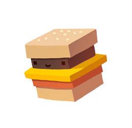 Burger Face by AnnekaTran