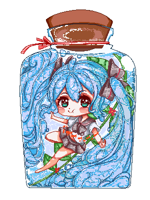 Botoru Miku (Pixel Page Doll) by Artie-chii