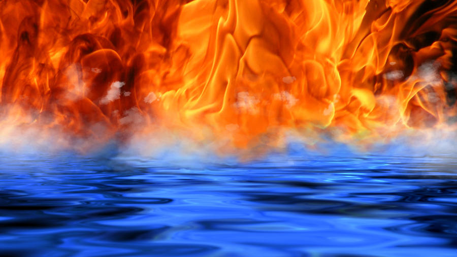 fire vs water wallpaper hd