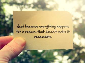 Reason vs. Reasonable by goRillA-iNK