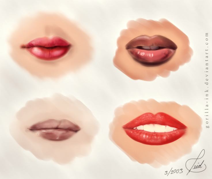 How I Draw Lips (Right Now) by goRillA-iNK