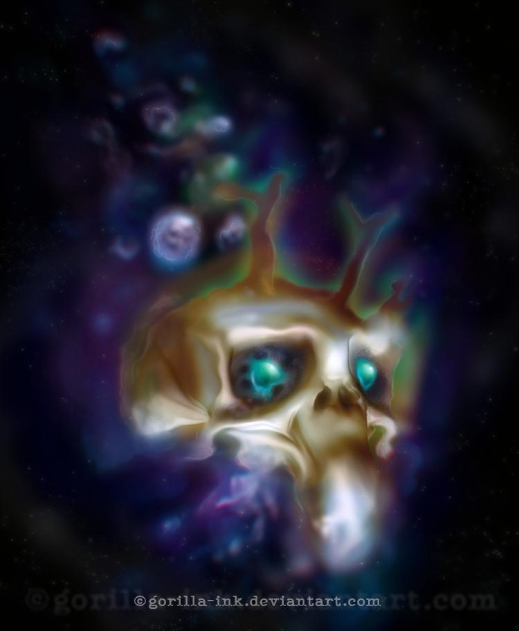 Alien Skull (Random creation thingy) by goRillA-iNK