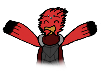 Luki birb (art trade) by CoolSkeleton03
