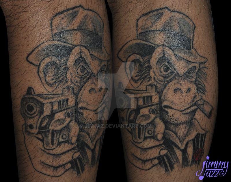 684c7d1364a1d Mafia monkey Tattoo by jimjaz on DeviantArt