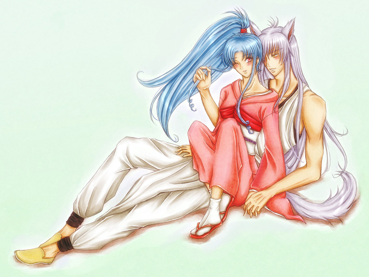 request: Kurama x Botan by kaskachan