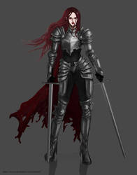 Vergis the Red Knight (update) by Nymerii