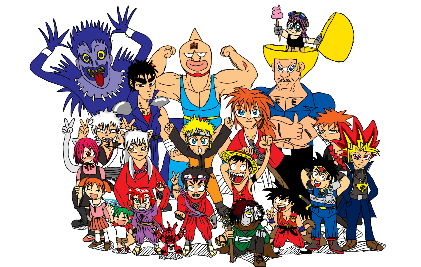 Anime and Manga group shot by SHINOBI-03 on DeviantArt