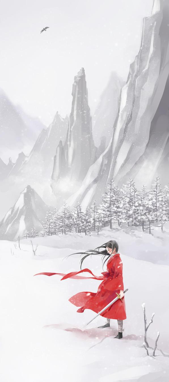 snow mountain by yoeah