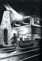 train and vampire by WekT