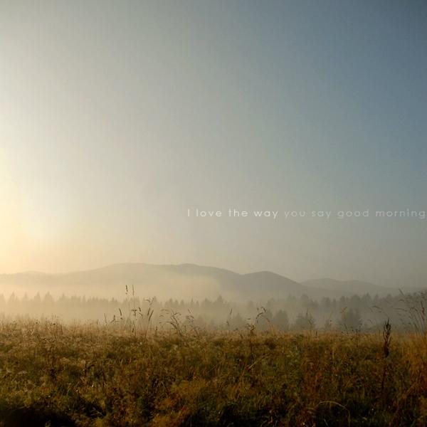 good morning by wariatka