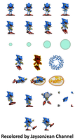 Recolored Metal Sonic sprite sheet. by JaysonJeanChannel
