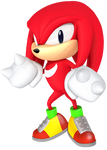Classic Knuckles from the Sonic Mania Poster