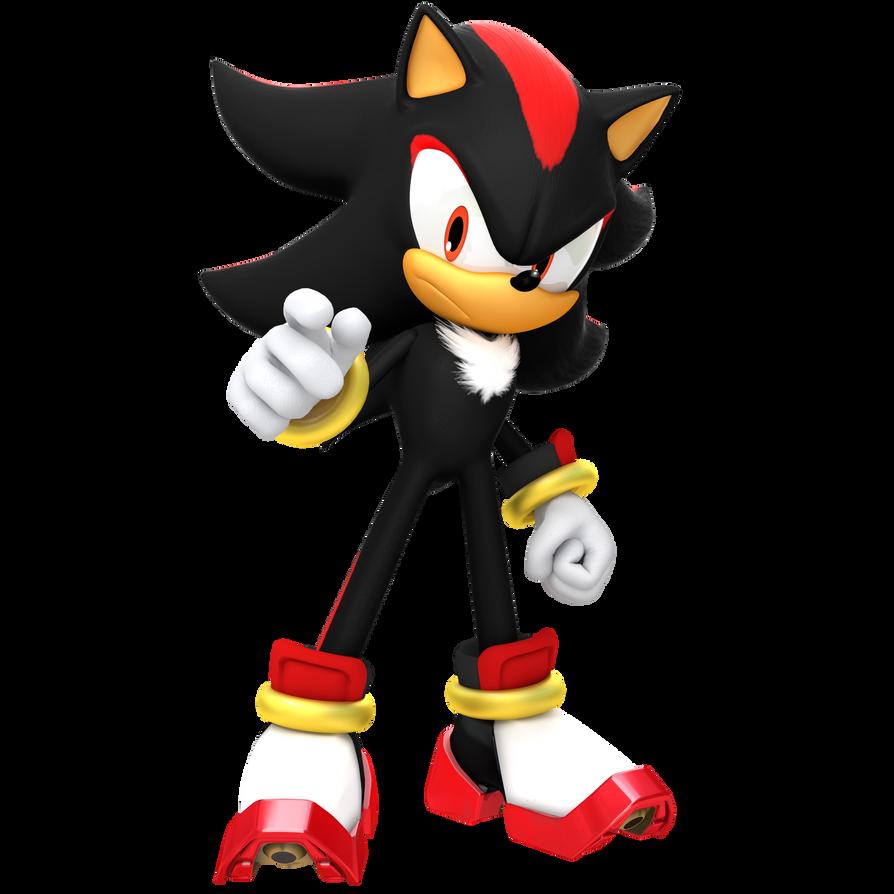 Newer shadow render by jaysonjeanchannel on deviantart - Sonic et shadow ...