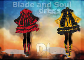 MMD BLADE AND SOUL - DRESS - [DL] by Milionna