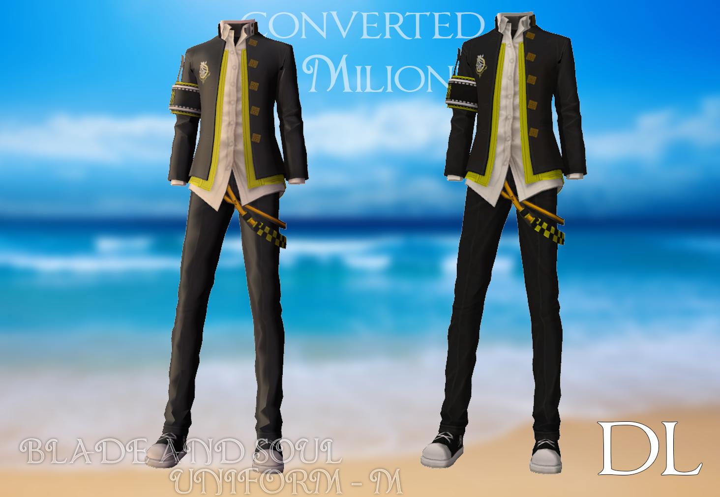MMD BLADE AND SOUL Uniform - M [DL DOWNLOAD] by Milionna on