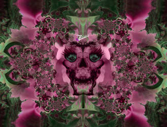 Pink skull's extravagance by TrishLaWitch