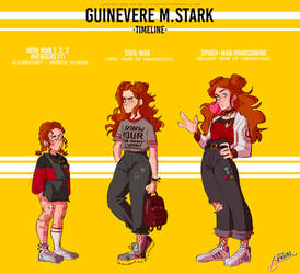 MARVEL OC - GUINEVERE STARK by spidertams