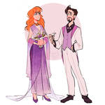 Pepperony wedding outfits - Pepper and Tony