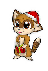 merry christmas alquicira :3 by fluffythefurrie