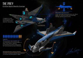 Civilian Space Shuttle by JECBrush