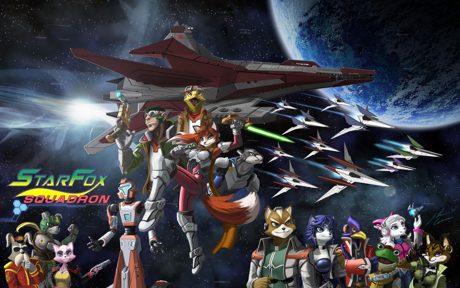 Star Fox Crew And Oc S By Jecbrush On Deviantart