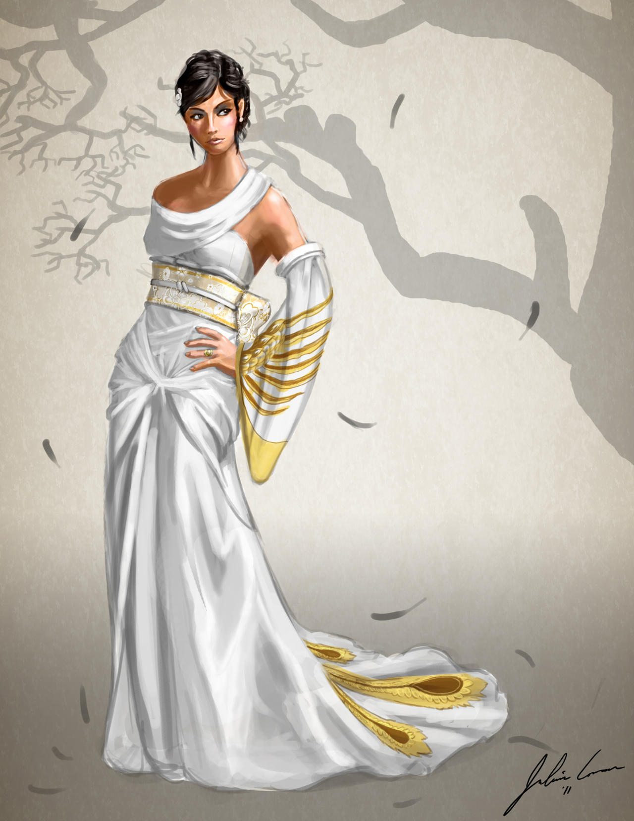 Wedding Gown Design - Front by JECBrush on DeviantArt