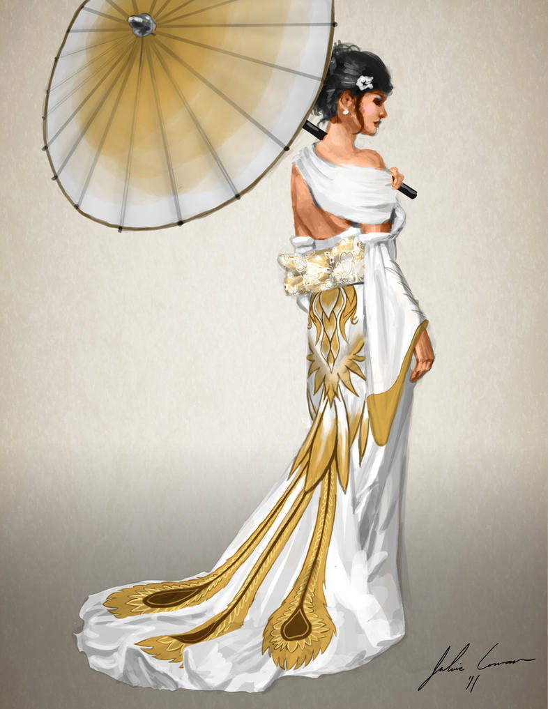 Japanese Inspired Wedding Dress