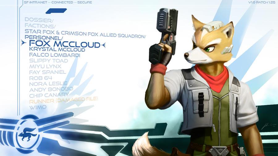 Fox McCloud Wallpaper by JECBrush