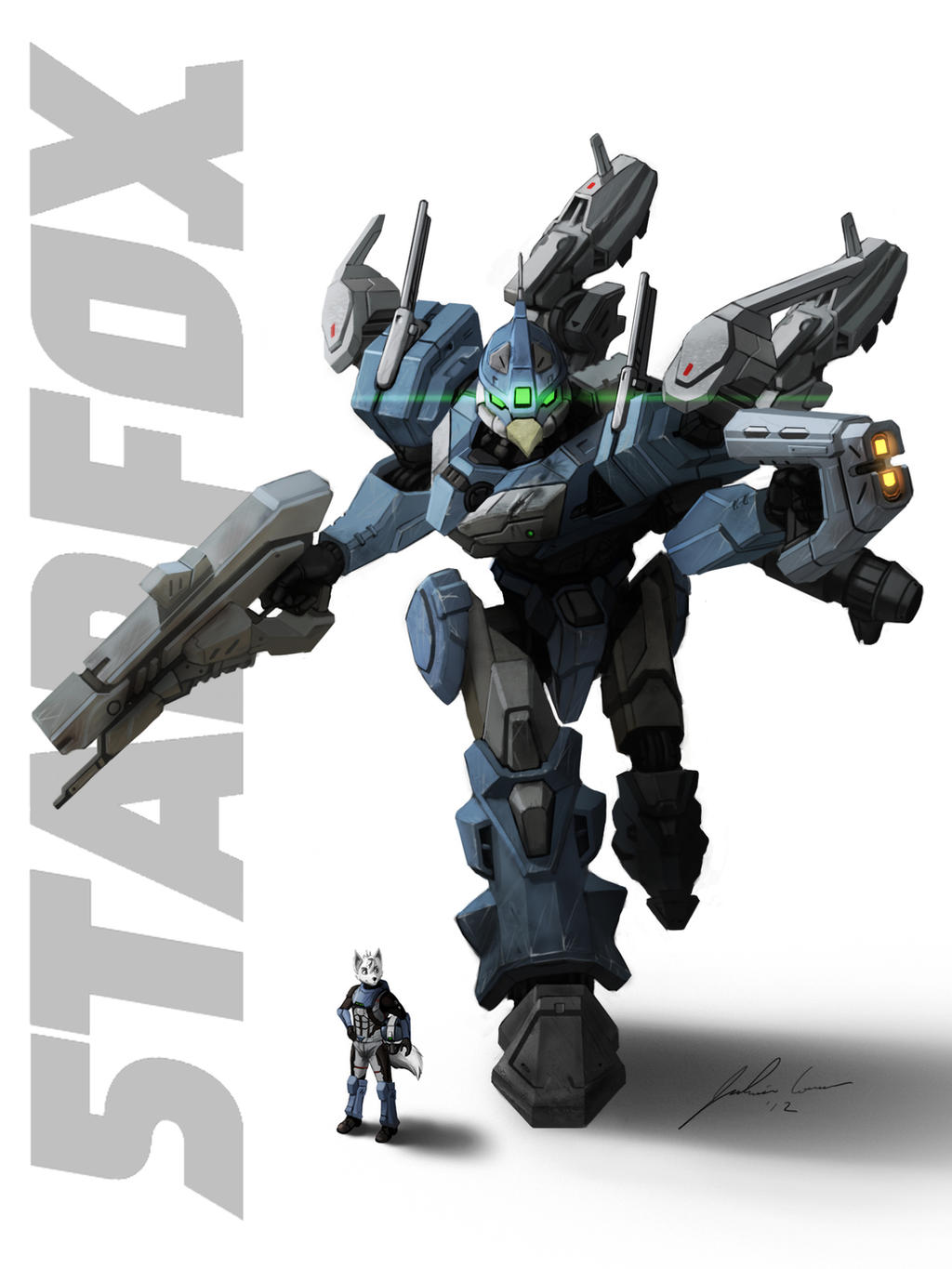 Bowenford and his Falcon Mech by JECBrush