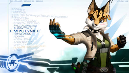 Miyu Lynx Wallpaper by JECBrush