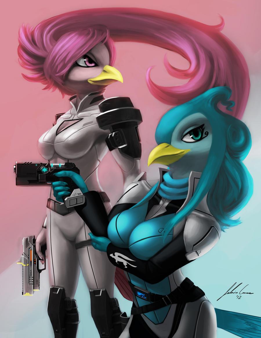 Nova and Celestia by JECBrush