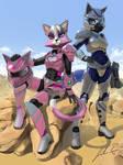 Kat and Krystal in Armor
