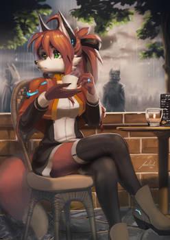 Nora Having a Coffee