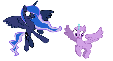 Ahh What are they DOING? Princess Luna COLLAB by NightLavanderArtist