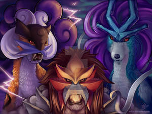 .Comm. Legendary Beast Trio of Johto