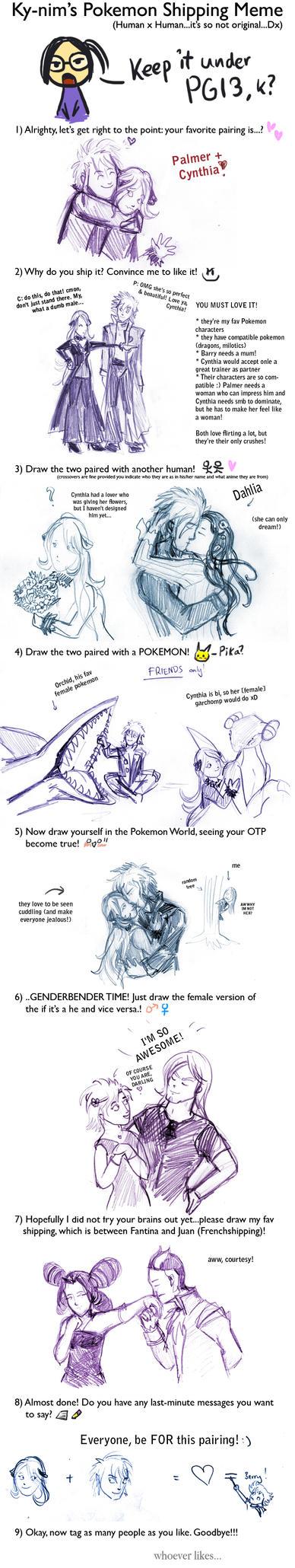 Pokemon shipping meme - Palmer + Cynthia by WielkiDuchII