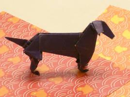 Origami Dachshund by rjonesdesign