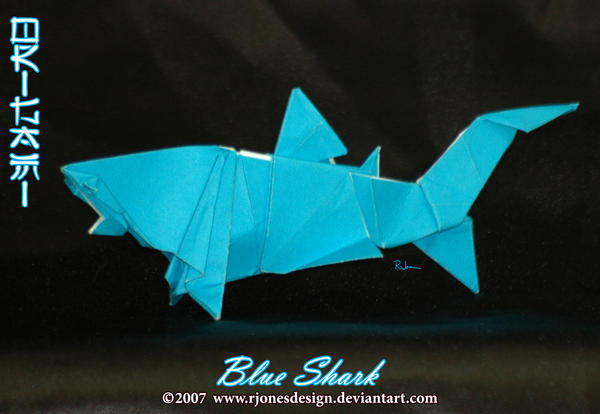 Origami Blue Shark By Rjonesdesign On Deviantart