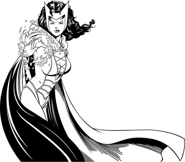 Scarlet Witch inks by rjonesdesign on DeviantArt