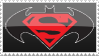 Superman Batman Stamp by rjonesdesign