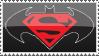 Superman Batman Stamp by rjonesdesign