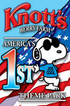 Knotts Berry Farm Snoopy label