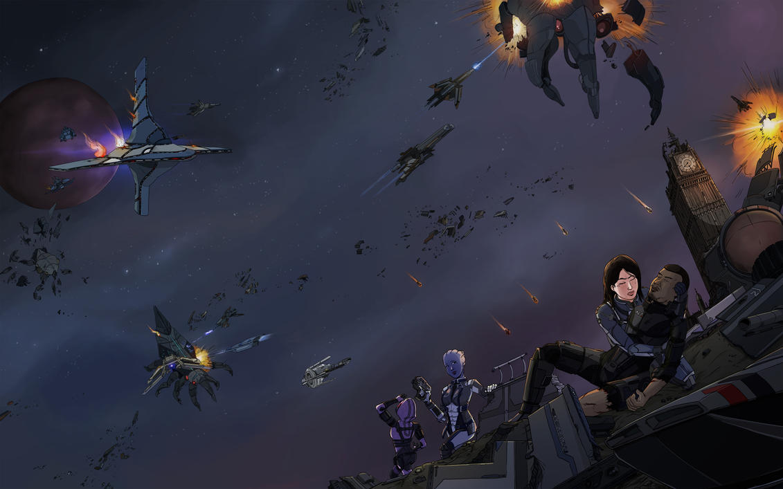 Mass Effect ending series : Red Tail F22's by Pehesse