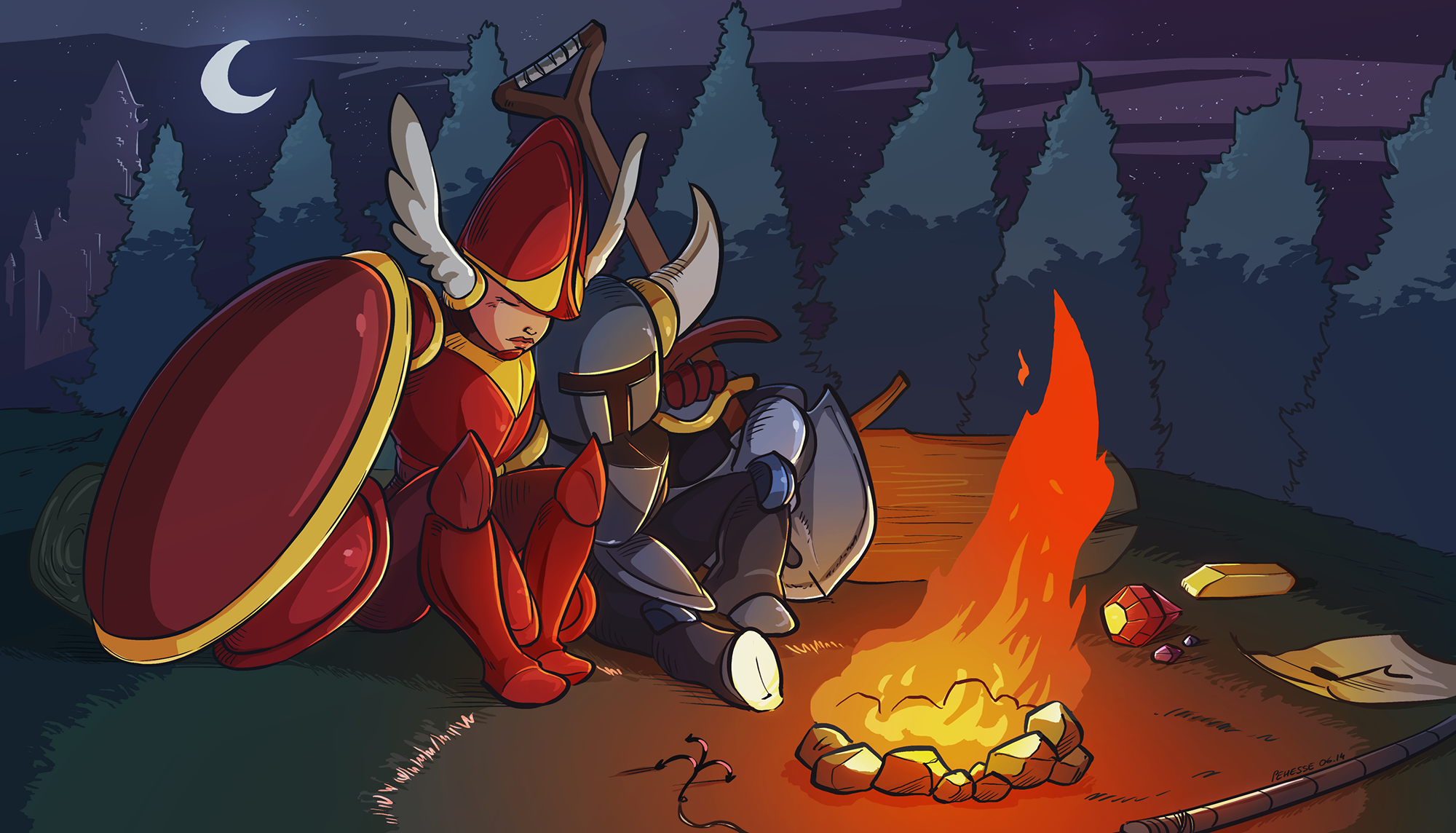 Shovel Knight Tribute By Pehesse On DeviantArt