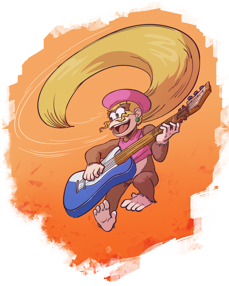 Videogame Heroines ABC Round 3 - Dixie Kong by Pehesse