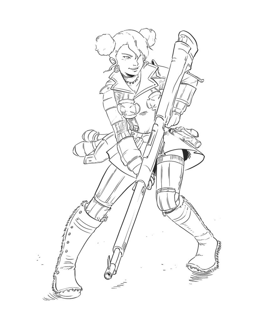 Videogame Heroines ABC Round 3 - Brigitte Stark by Pehesse