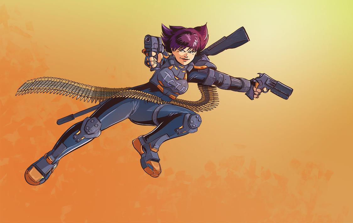 Videogame Heroines ABC Round 3 - Konoko by Pehesse