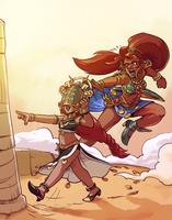Riju and Urbosa by Pehesse
