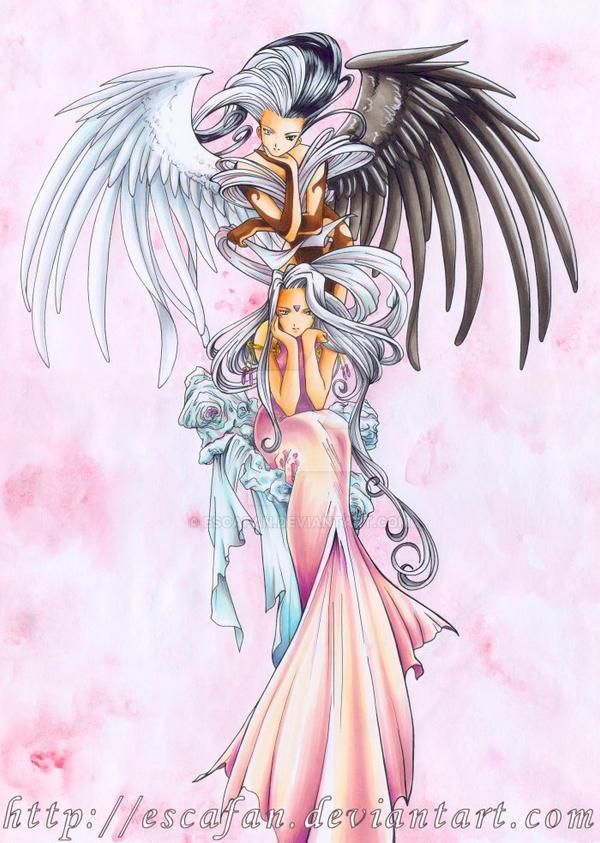 Urd AH my Goddess .COPIC. by escafan