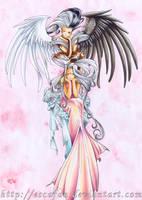 Urd and angel by escafan